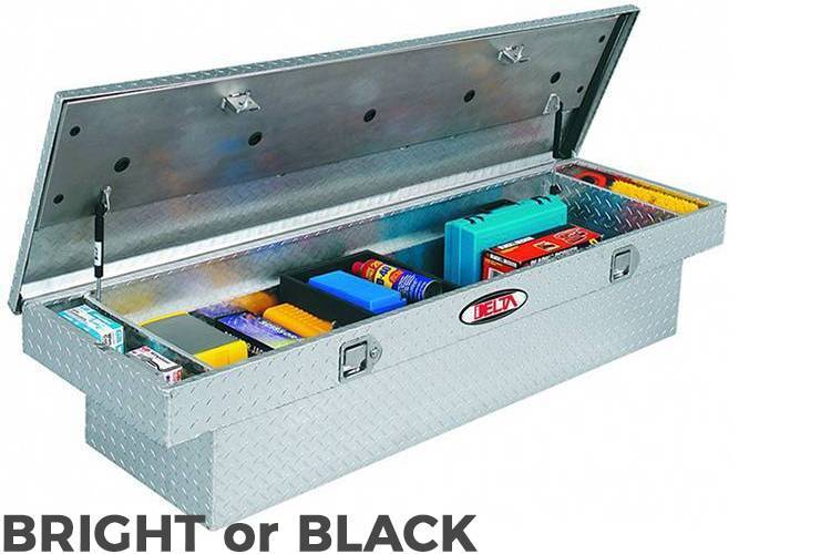 Delta Tool Boxes - Delta Tool Boxes Black Aluminum Single Lid Mid Size Low Profile Crossover