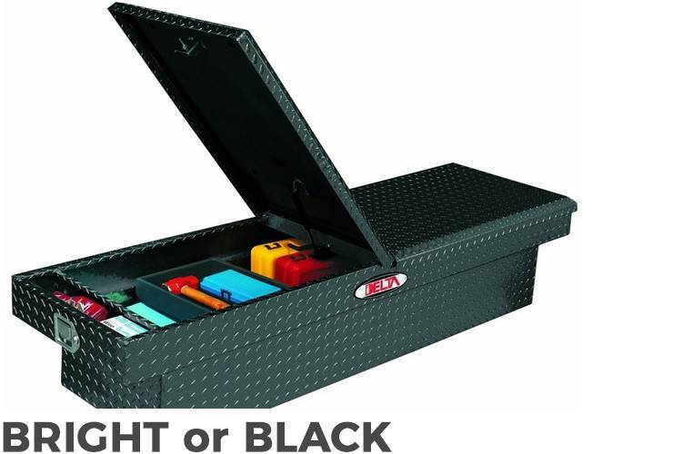 Delta Tool Boxes - Delta Tool Boxes Black Aluminum Double Lid Mid Size Crossover