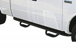 Westin Gen-X Cab Length Oval Tube Nerf Bars with Hoop Steps