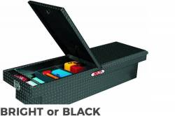 Delta Tool Boxes - Delta Tool Boxes Black Aluminum Double Lid Mid Size Crossover - Image 1